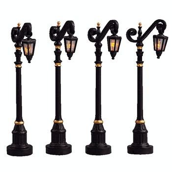 4 Colonial Street Lamp, Set Of 4