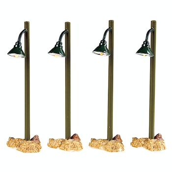 Rustic Street Lamp, Set Of 4