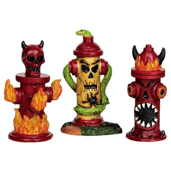 Hellfire Hydrants, Set Of 3