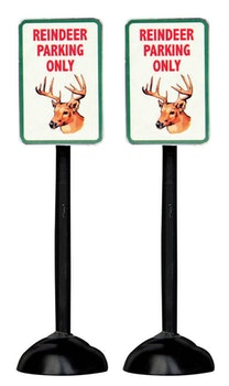 Reindeer Parking Only Sign, Set Of 2