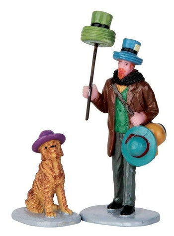 Hat Peddler, Set Of 2