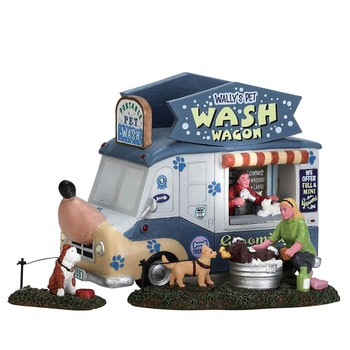 Wally's Pet Wash Wagon , Set Of 3