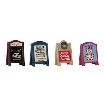Village Signs, Set Of 4