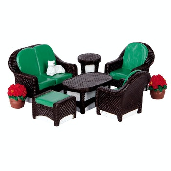 Wicker Lawn Set, Set Of 8
