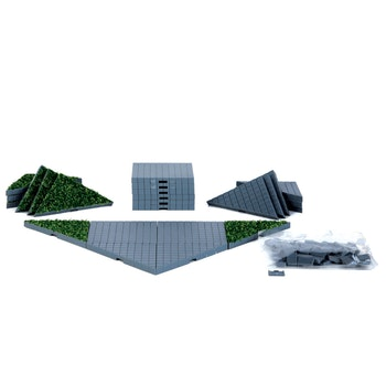 Plaza System (Grey, Triangle Grass) - 24 pcs