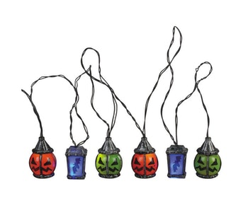 6 Lighted Spooky Lantern