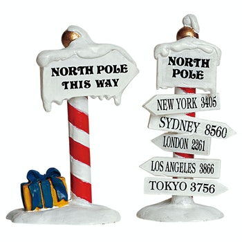 North Pole Signs, Set Of 2