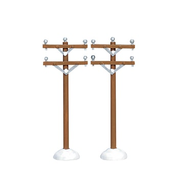 Telephone Poles, Set Of 2
