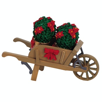 Wheelbarrow With Poinsettias