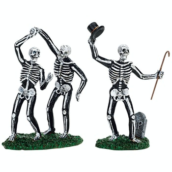Dancing Skeletons, Set Of 2