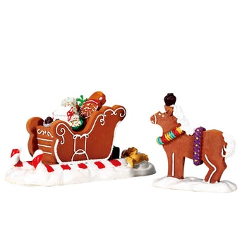 Santa's Sleighride, Set Of 2