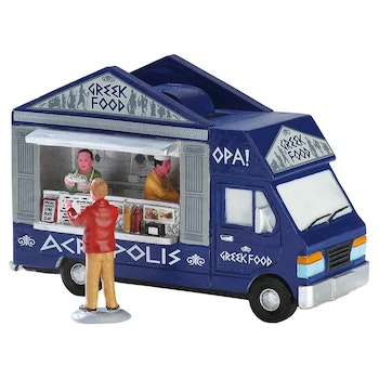Greek Food Truck, Set Of 2