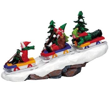 Elf Sledding Party