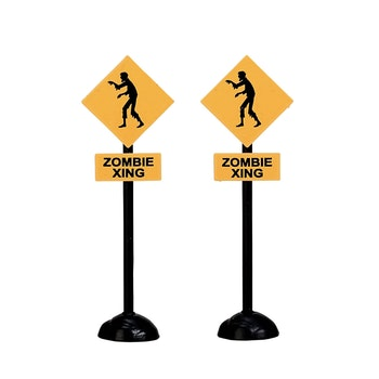 Zombie Crossing, Set Of 2