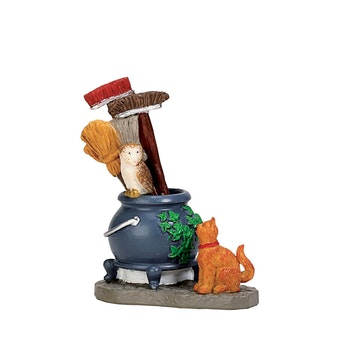 Cauldron Broom Holder