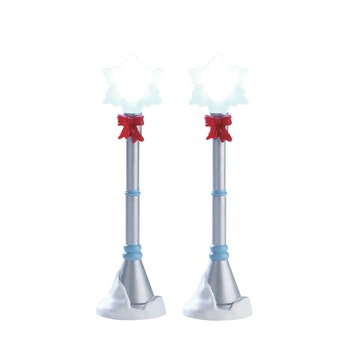 Snowflake Lamp Post, Set Of 2