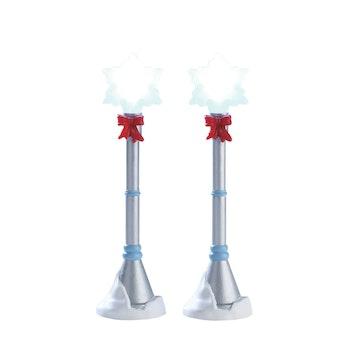 Snowflake Lamp Post, Set Of 2