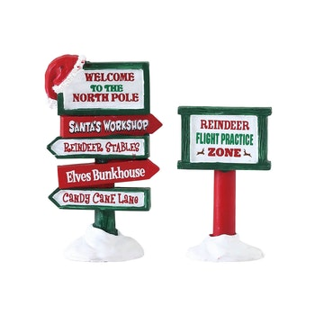 North Pole Signs
