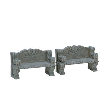 Stone Bench, Set Of 2