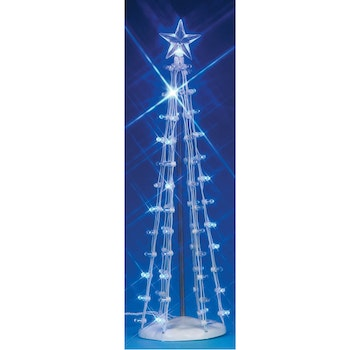 9 Lighted Silhouette Tree, Blue