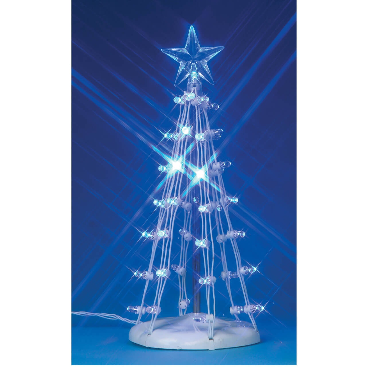 6 Lighted Silhouette Tree Blue Tap To Expand