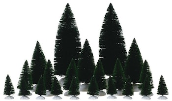 12-PC Assorted Fir Trees