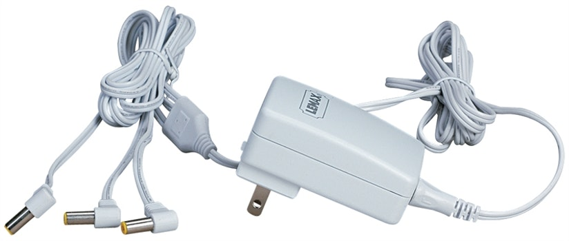 4.5V 3-Output Adapter White Fixed US Plug