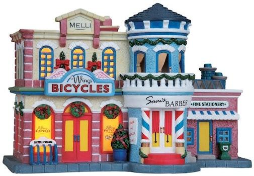 Bike, Barber & Stationery Shop