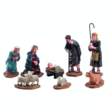 Nativity Figurines, Set Of 8