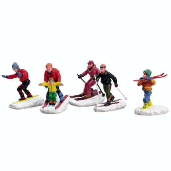 Winter Fun Figurines, Set Of 5