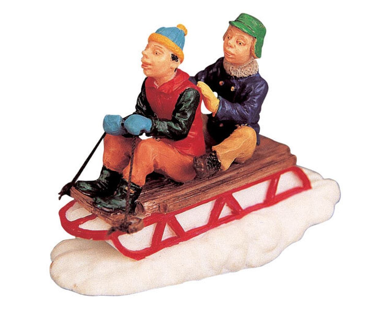 Sledding With Gramps Lemax
