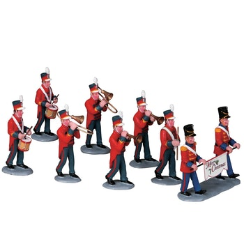 Christmas Parade Marching Band, Set Of 8