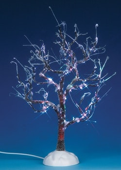 9 Lighted Ice Glazed Tree, Multi Color