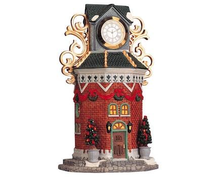 Town Clock Tower W/Working Clock