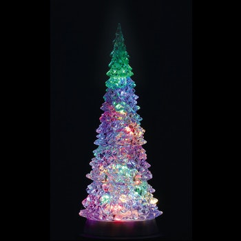 Crystal Lighted Tree, 4 Color Changeable & Color Tran...