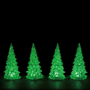 Crystal Lighted Tree, 3 Color Changeable, Small