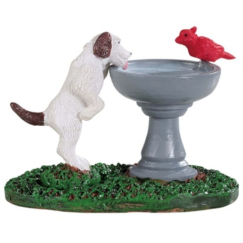 Bird Bath Dog Fountain