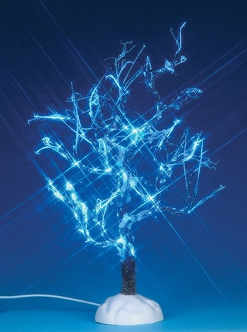 Lighted Ice Glazed Tree, Blue