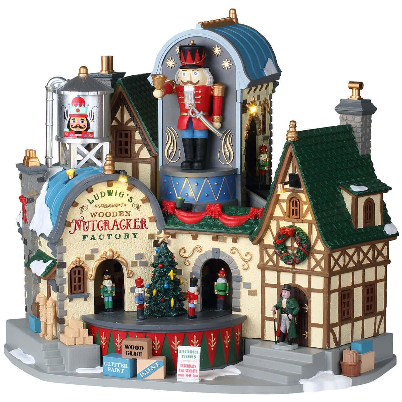 Weihnachtsdorf Winterdorf Modellbau LEMAX Come See The Nutcracker